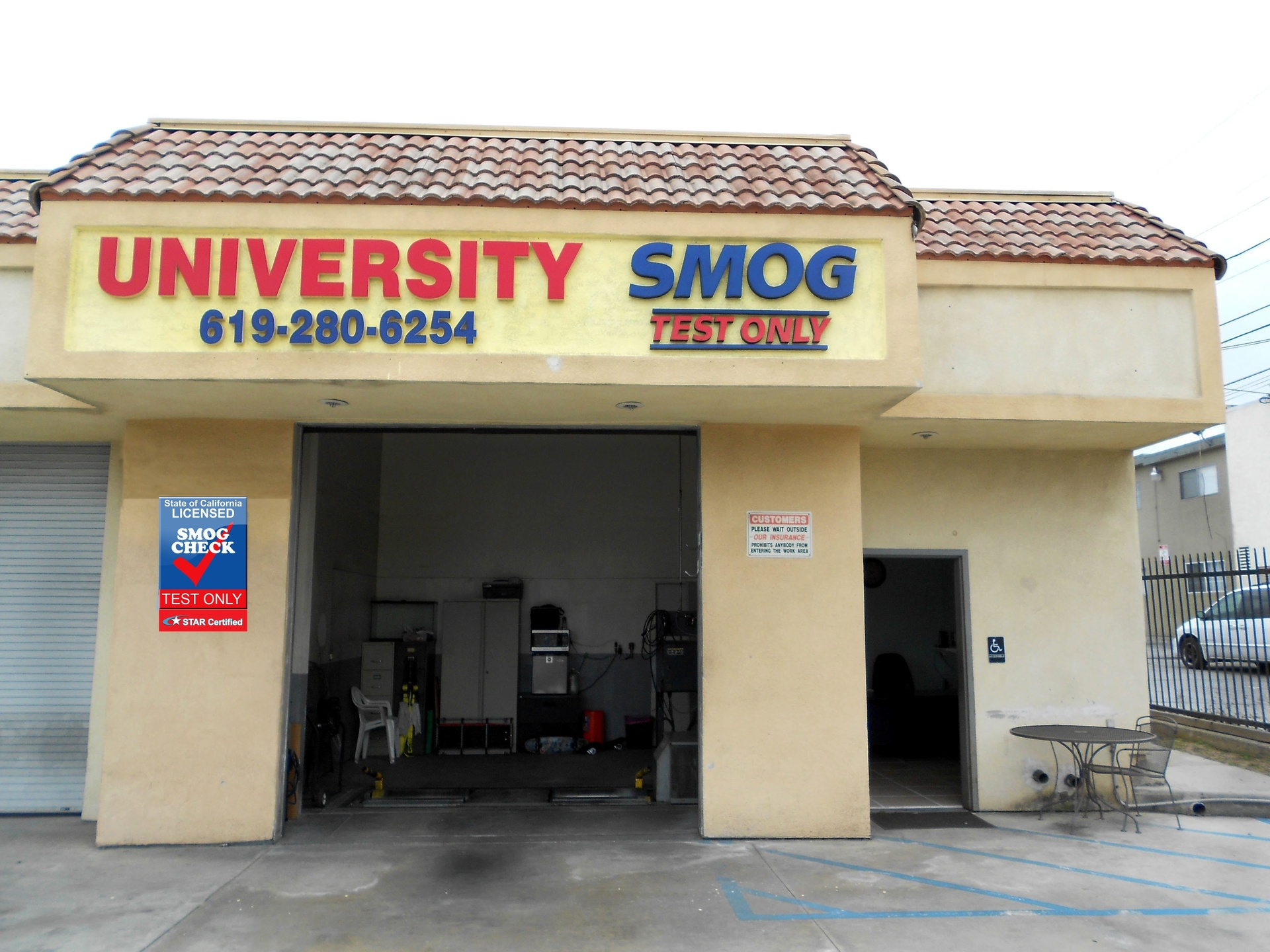 University Smog Test Only Center, 4645 University Ave, San Diego, CA, 92105, US